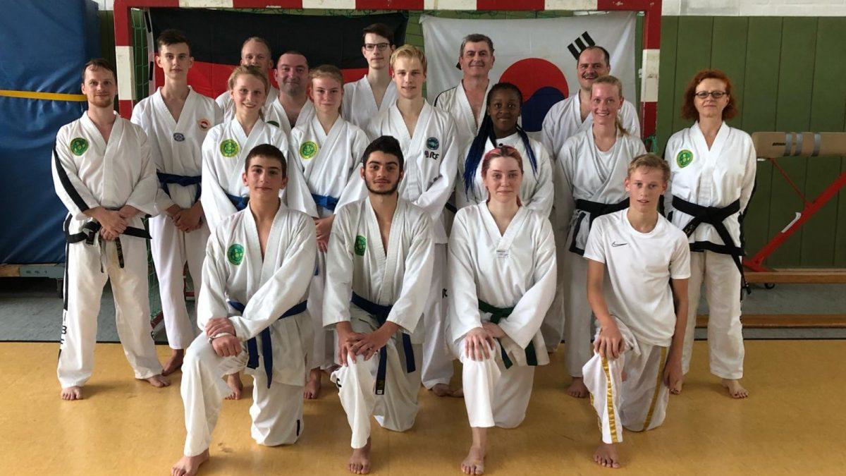 Gruppenbild Freikampftraining Taekwondo 2019-08-18